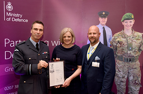 Armed Forces Covenant Silver Award presentation
