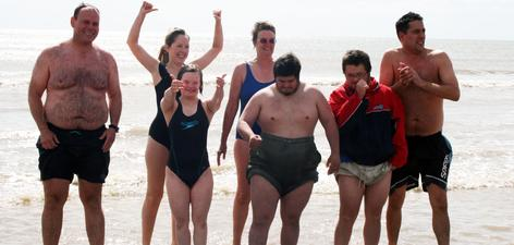 News: Big Swim Camber Sands - Russell and friends enjoy the summer sea!