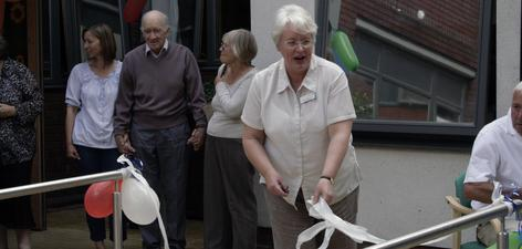 News Photo: 2) Anne Waterworth, Service Manager for Older Adults, Bexley, formally opens the garden.