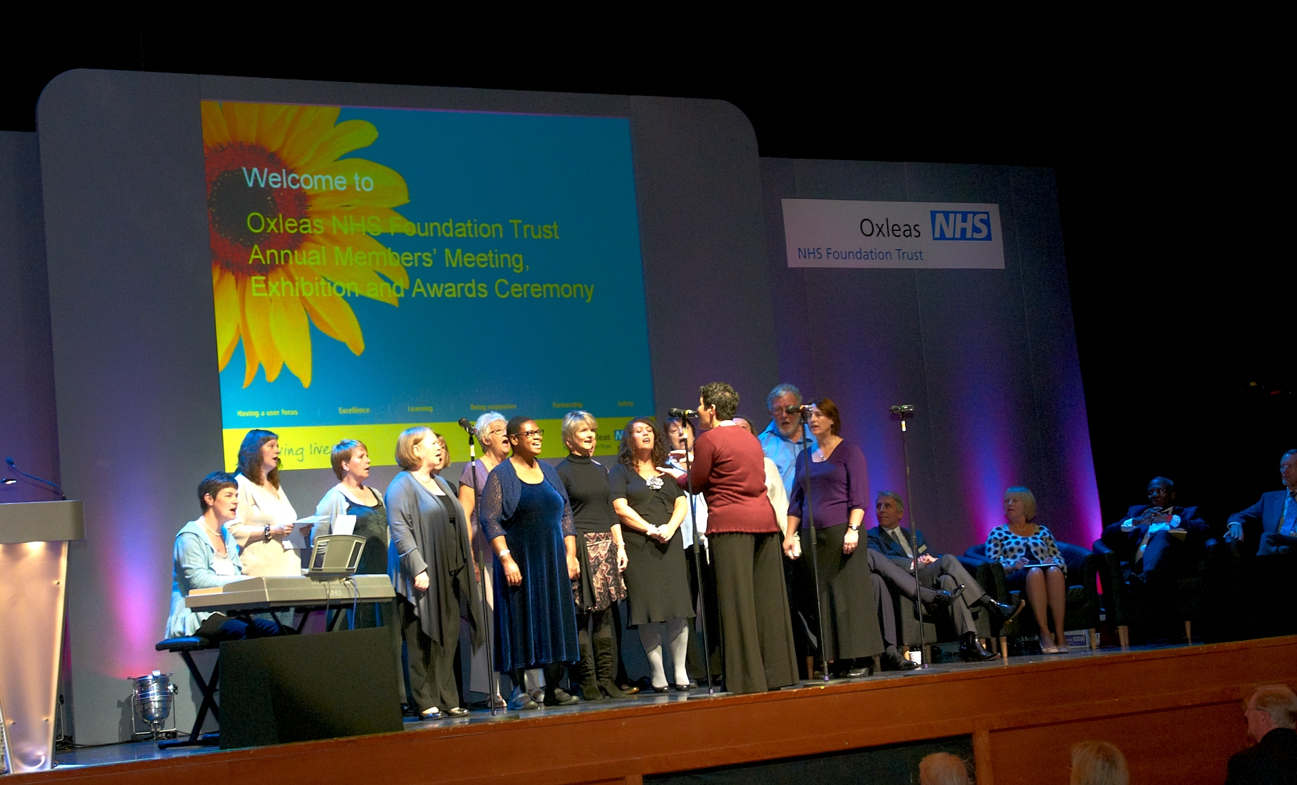 1. The Harmony Choir open the 2010 Oxleas Annual Members' Meeting