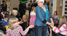 2. Maz Marsham centre with Sara at the Short Breaks Service Christmas party
