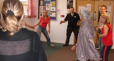 2. Patients, staff and professional dancers enjoying the Big Summer Dance at Green Parks House, Bromley.
