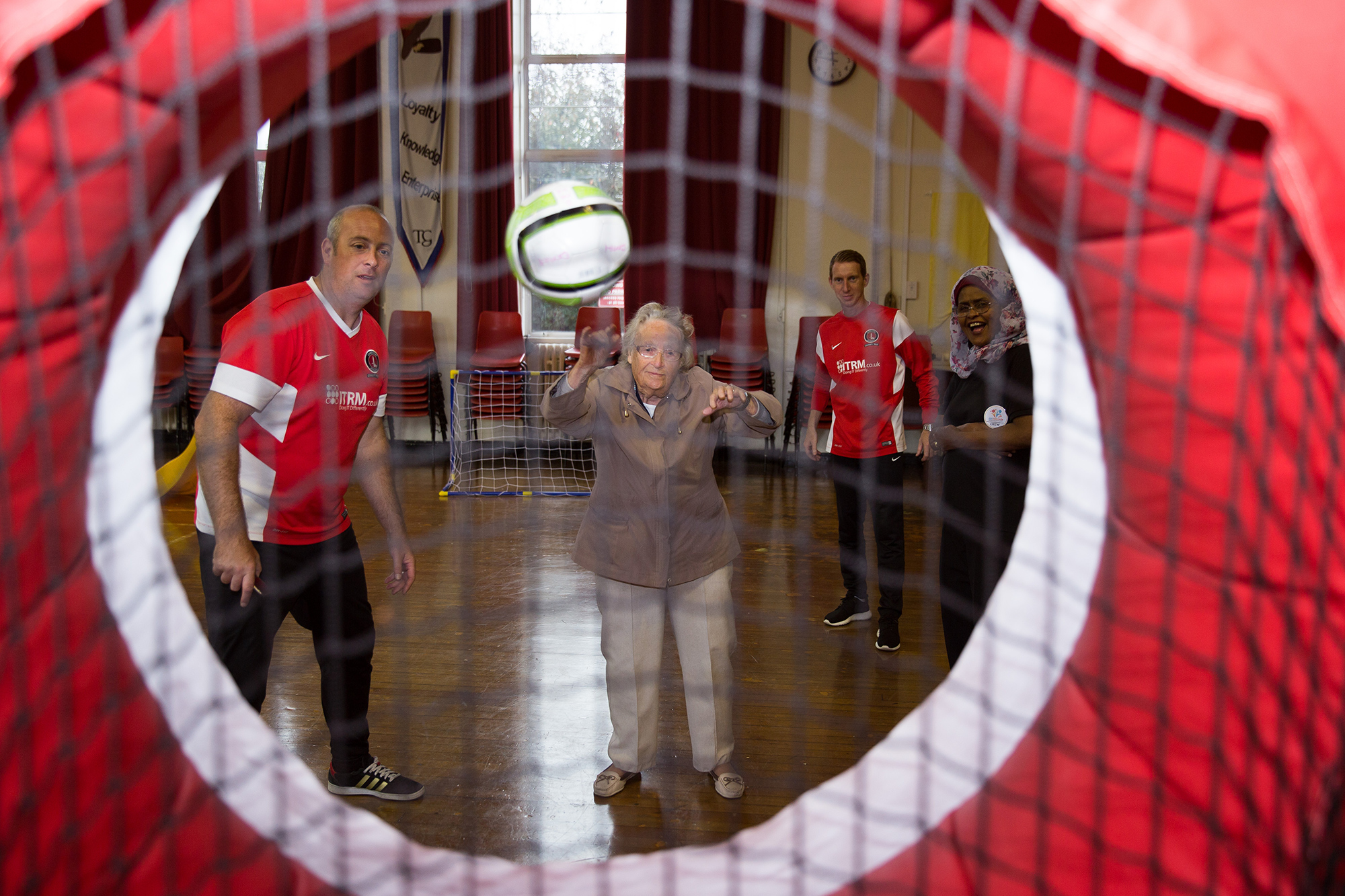 Charlton Athletic Community Trust penalty shoot out at the Oxleas Family Health Festival 2016
