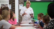The Kids' Cookery School at the Oxleas Family Health Festival 2016