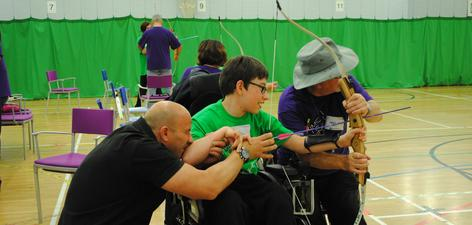 1. This local lad had a great time during an archery session that Vicky helped organise at Stoke Mandeville Stadium last year.