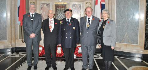 From left, Trevor Eldridge, Cyril Young, Barry Nugent, Cllr David Grant and Anne Grant