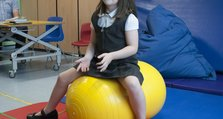 Children's physio at QMH - Zoe, 7 from Bexleyheath
