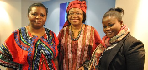 From left, Caroline Peters, Dianna Lumor, Augustina Adams