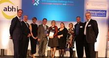 Greenwich Advanced Dementia Service team collecting their award.