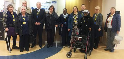 Oxleas Governers visit Queen Mary's Hospital.