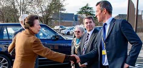 HRH The Princess Royal visiting the Bracton Centre December 2017
