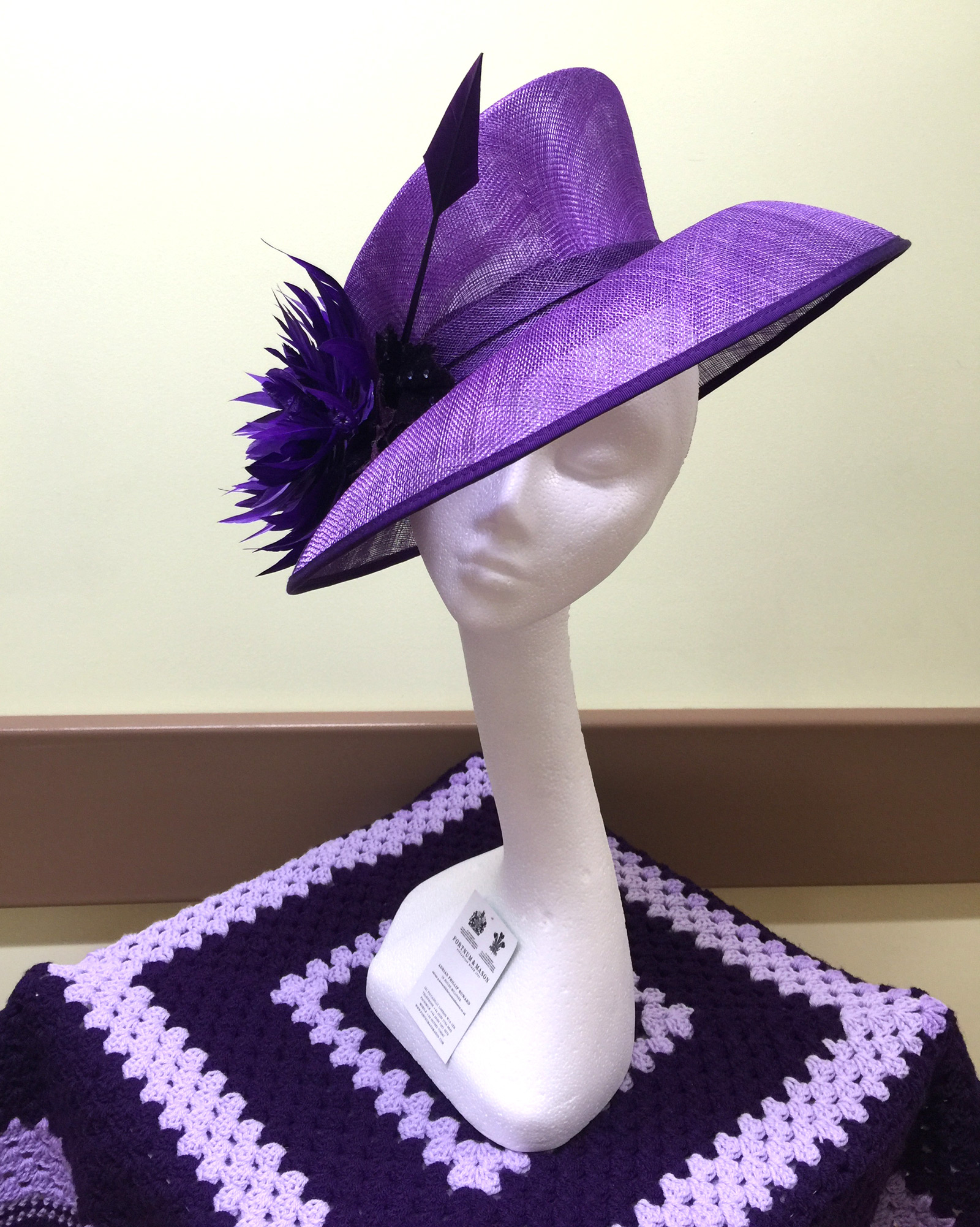 Hat auction for The Stroke Association
