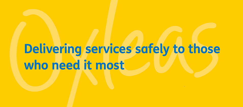 Homepage banner: Delivering services safely to those who need it most