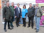 News: 1) Old Bexley and Sidcup MP James Brokenshire (third from left) visits the World Mental Health Day stall at Bexleyheath.