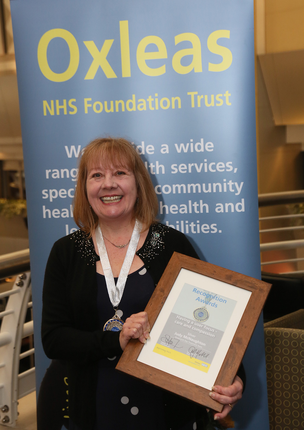 Staff Recognition Awards 2012: Having a user focus – care and compassion Silver: Judy McNaughton, Greenwich Day Treatment Team, Oxleas House