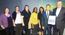 Staff Recognition Awards 2010: Learning - Lesney Ward and Lawrence Yong at the O2