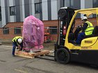 Linear accelerators arriving at Queen Mary's Hospital, Sidcup