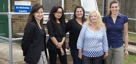The MST Team (Left to right): Dr Sheena Webb, MST supervisor; Dr Varinder Panesar, MST therapist;  Candy Orozco, MST therapist; Sandra Kemp, MST administrator and Stephanie Schutte, MST therapist.