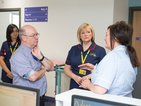 Minister Alistair Burt learns about pioneering work from our staff at Eltham Community Hospital.