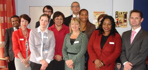 The new Mental Health Liaison Team and guests at its launch event.