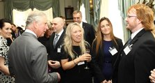 Nina Turner (second from the right) in the company of the Prince of Wales and other Nursing Times nominees.