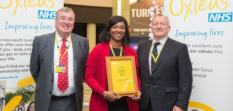 Staff Recognition Awards 2015: Runner up - Leading and inspiring: Oluwatoyin Akinfolarin
