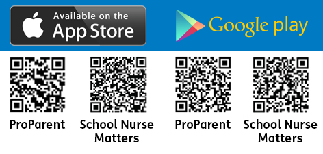 QR Codes for ProParent and School Nurse Matters