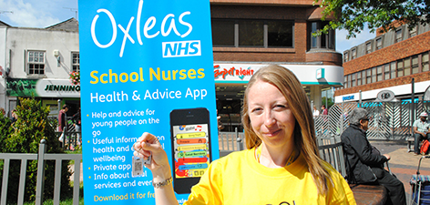 News: Our School Nurses and Health Visitors launch an exciting app for parents and young people (keyring)