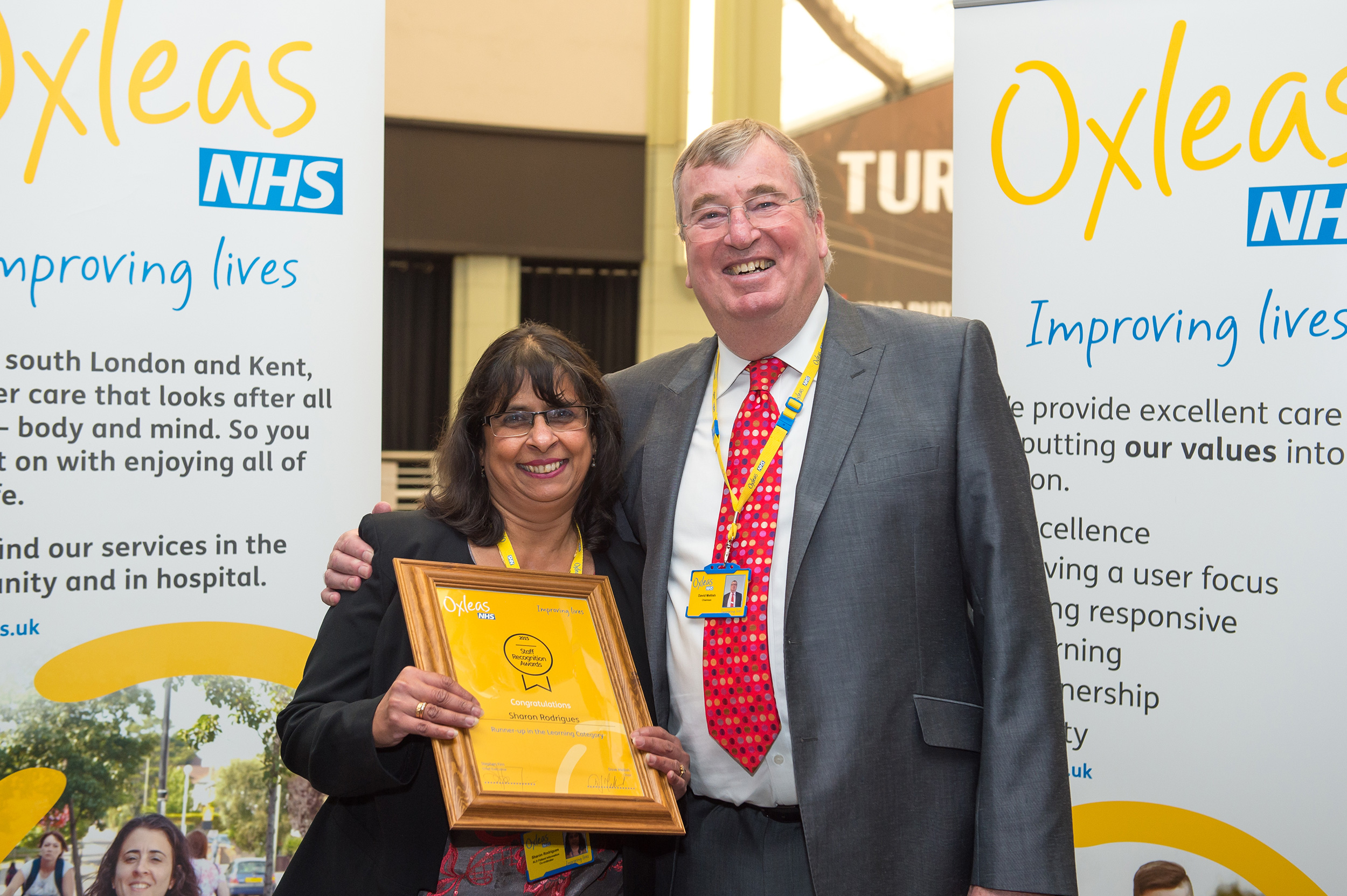 Staff Recognition Awards 2015: Runner up - Learning: Sharon Rodrigues, Patient Information Project Worker