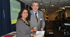 2011 - Oxleas Support Workers Conference - 2. Sharon Rodrigues, with Director of Nursing Wilf Bardsley, won the patient and carer experience Award
