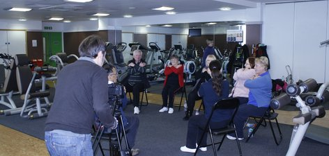 Filming at the Eltham Leisure Centre