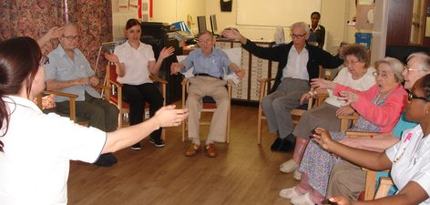 Adapted Tai Chi exercises at the Bevan Unit, Thamesmead.