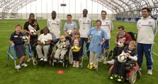 Chelsea FC coaches with children at the London Soccerdome