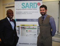 Oxleas Medical Director, Dr Ify Okocha, and SARD's Director of Sales and Marketing, Phil Bottle.