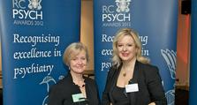 Dr Geraldine Strathdee (left) pictured with journalist and author Allison Pearson at the awards ceremony in London.