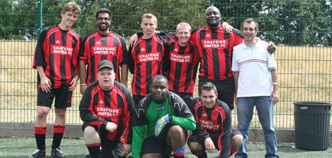2. The Crayside United Team from the Crayford Day Centre who finished joint 3rd.