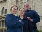 From left, Helen Jefford, Nina Turner and Shane Donelly, a colleague at Maidstone Prison