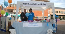 World Mental Health Day 2008 - Stall in Bexleyheath