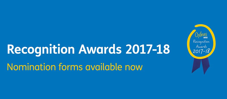 Recognition Awards 2017-18. Nomination forms available now.