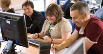 Shaw Trust testing team examine Oxleas website