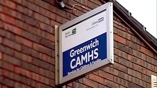 Photograph of sign outside the Greenwich CAMHS centre