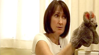Alison Martin using a puppet in therapy